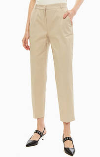 Бежевые брюки чиносы из хлопка Pinko