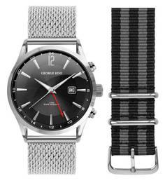 Кварцевые часы с функцией даты George Kini