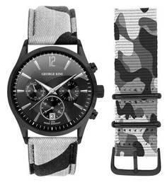 Кварцевые часы с люминесцентными стрелками George Kini