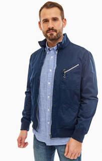 Синяя хлопковая куртка с карманами Lee