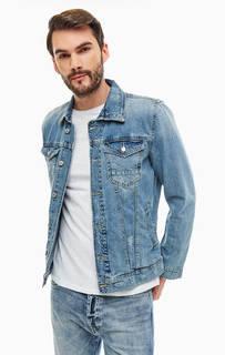 Джинсовая куртка с рваным декором Guess