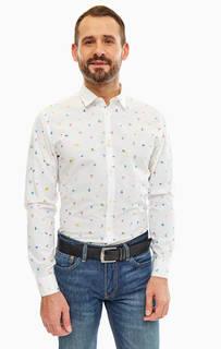 Белая приталенная рубашка из хлопка Selected