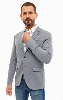 Серый пиджак с карманами Selected