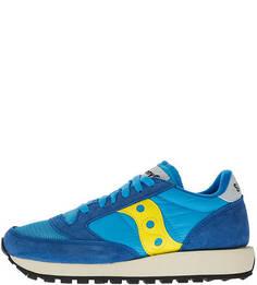 Синие кроссовки из текстиля и замши Jazz Original Saucony