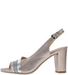 Кожаные босоножки на каблуке Caprice