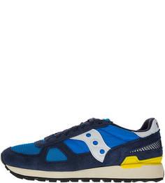 Синие кроссовки из текстиля и замши Shadow Original Saucony