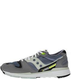 Летние кроссовки серого цвета с яркими вставками Azura Saucony