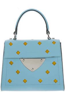 Маленькая кожаная сумка с откидным клапаном B14 Foro Rombi Coccinelle