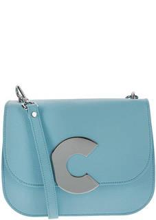 Маленькая кожаная сумка с откидным клапаном Craquante Coccinelle