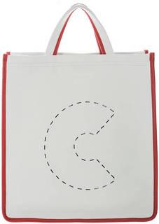 Кожаная сумка с одним отделом на магнитной кнопке C Bag Coccinelle