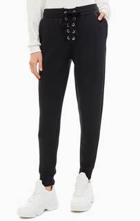 Черные брюки джоггеры со шнуровкой Guess