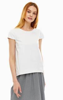 Белая блуза с короткими рукавами Stefanel