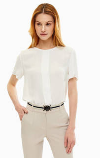 Блуза из вискозы с пуговицами на спинке Stefanel