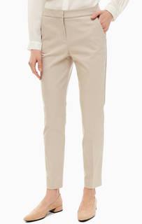 Укороченные брюки бежевого цвета Stefanel