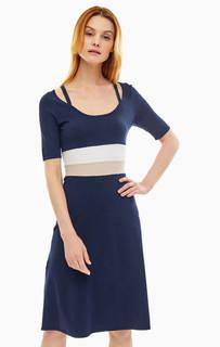 Трикотажное платье с короткими рукавами Stefanel