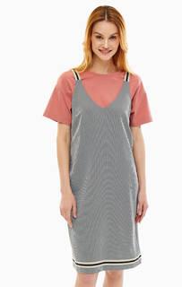 Платье-сарафан из фактурной ткани Stefanel