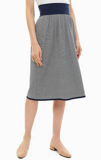 Трикотажная юбка в тонкую полоску Stefanel