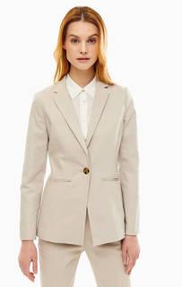 Приталенный пиджак с высоким содержанием хлопка Stefanel