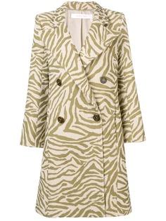 See By Chloé пальто с зебровым принтом