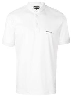 Giorgio Armani рубашка-поло с логотипом на груди