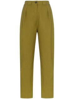 Mara Hoffman брюки прямого кроя с завышенной талией