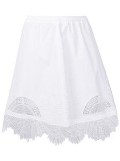 Ermanno Scervino юбка миди с вышивкой