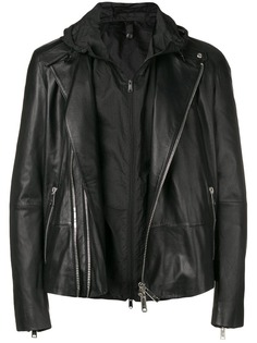 Emporio Armani байкерская куртка с капюшоном