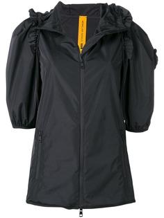 Moncler куртка с оборкой на капюшоне