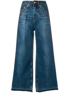Self-Portrait укороченные джинсы клеш из коллаборации с Lee
