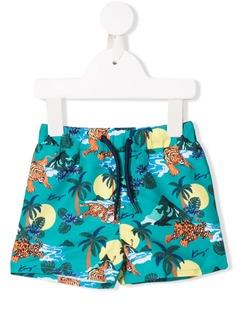 Kenzo Kids плавки-шорты с принтом