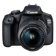 Зеркальный фотоаппарат CANON EOS 2000D kit ( 18-55mm f/3.5-5.6 III), черный