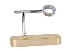 Аксессуар Док-станция COTEetCI Base Hub Dock для Apple Watch / IPhone 2 in1 Stand Gold CS7200-CEG