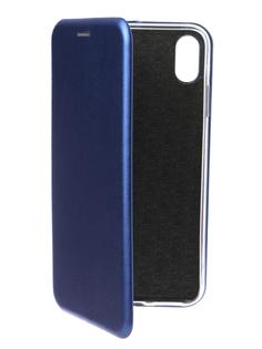 Аксессуар Чехол для APPLE iPhone XS Max Innovation Book Silicone Magnetic Blue 14703