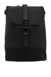 Черный рюкзак с карабином Rains