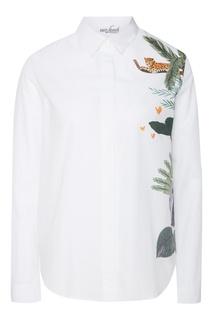Белая блузка с принтом VAN Laack