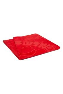 Красное пляжное полотенце с логотипом Billionaire