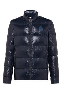 Синяя стеганая куртка Billionaire