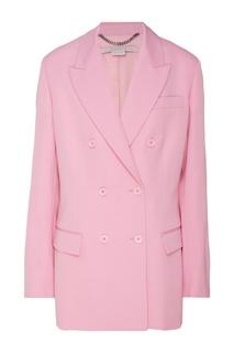 Розовый двубортный жакет Stella Mc Cartney