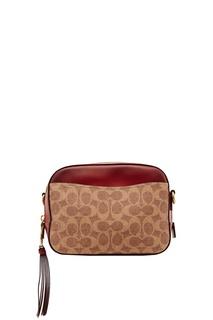 Жаккардовая сумка-кроссбоди с монограммами Coach