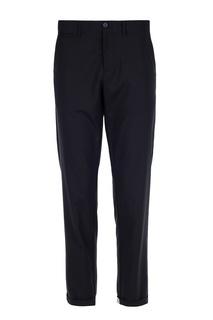 Черные брюки с контрастной отделкой Dirk Bikkembergs