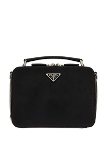 Компактная черная сумка Brique Prada