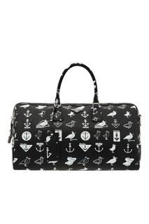 Дорожная сумка с контрастным принтом Prada