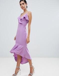 Платье миди на бретельках AX Paris - Фиолетовый