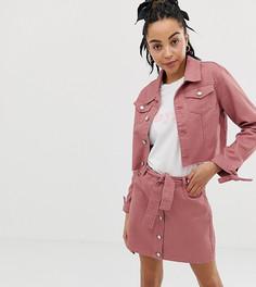 19b96258e Короткая джинсовая куртка с завязками на манжетах Urban Bliss - Коричневый