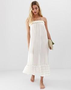 Пляжное платье миди America & Beyond - Белый