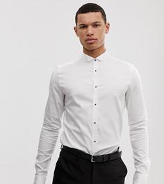 Белая рубашка скинни с воротником бабочка ASOS DESIGN Tall - Белый