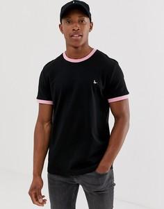 Черная футболка с кантом Jack Wills Baildon - Черный