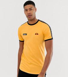 Оранжевая футболка с отделкой лентой ellesse Tall Fede - Оранжевый