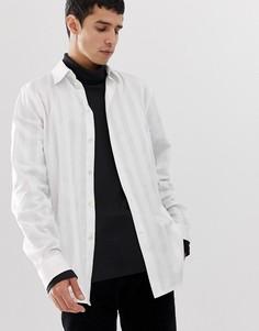 Белая рубашка в полоску Weekday Miguel - Белый