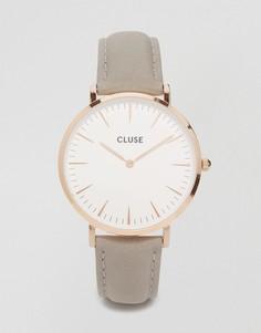 Часы с серым кожаным ремешком CLUSE La Boheme CL18015 - Серый